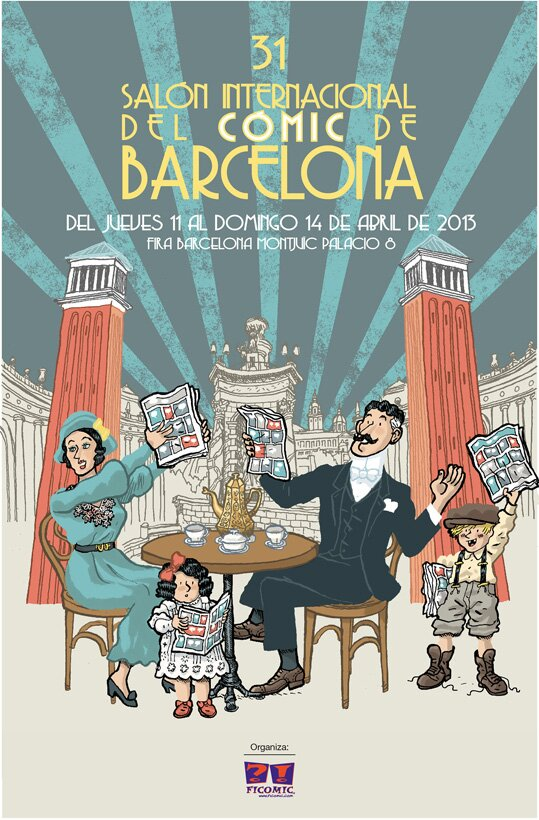 cartel ficomic 31 salon del comic de barcelona