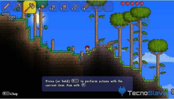 Terraria-psvita-gameplay