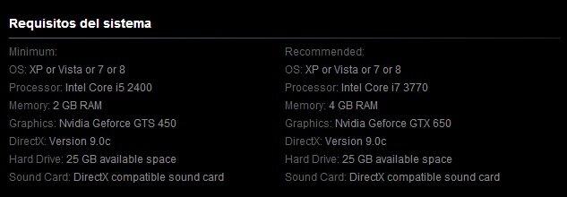 Metal Gear Rising Revengeance Requisitos PC