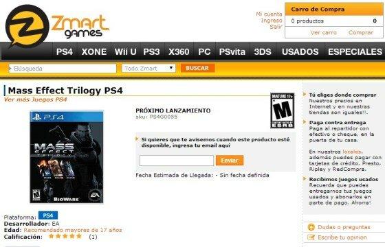 Mass Effect Trilogy PS4