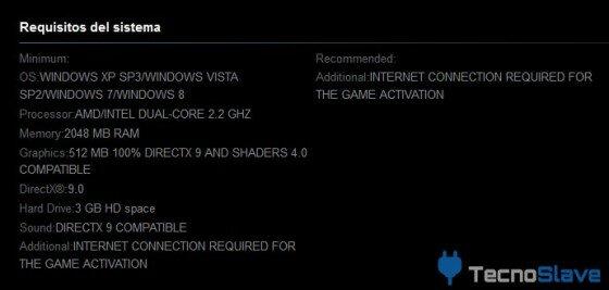Requisitos mínimos PC - Mars War Logs
