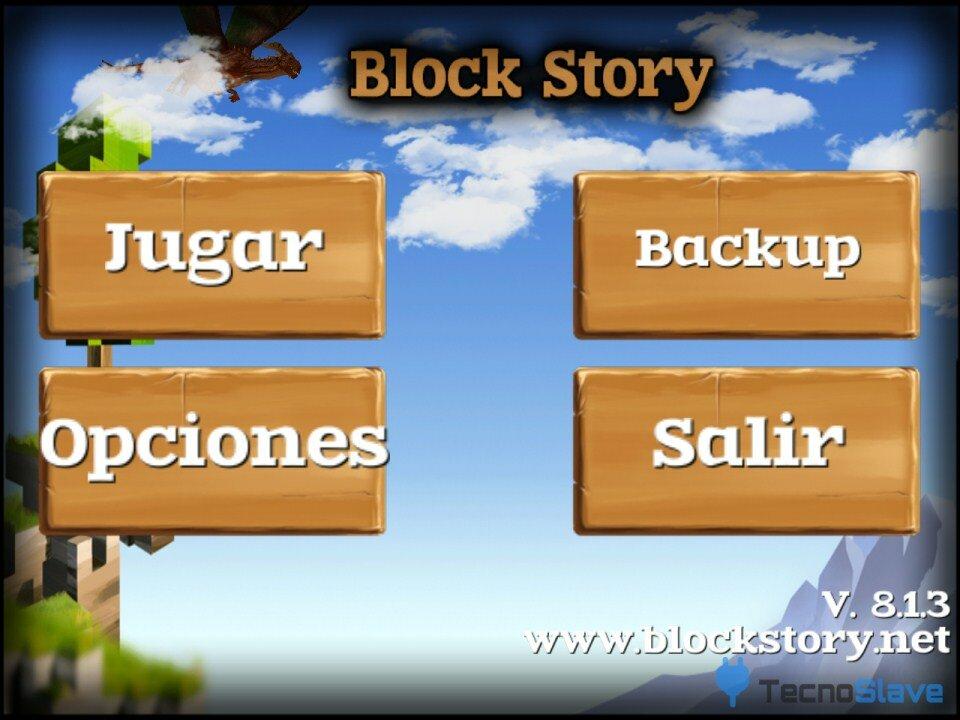Block Story Menú