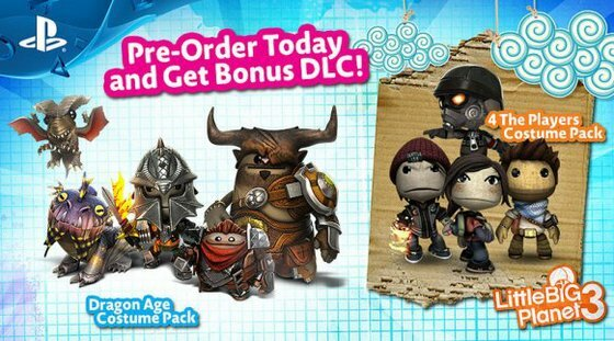 Little Big Planet 3 Dragon Age Costume Pack