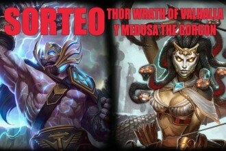 Smite Destacada Sorteo Medusa The Gorgon Thor Wrath of Valhalla